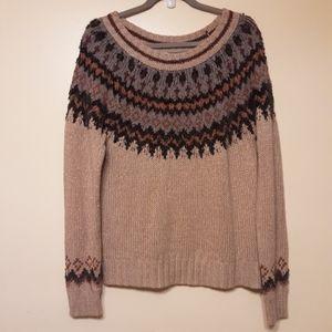 Maurices Blush Fair Isle Sweater Size L